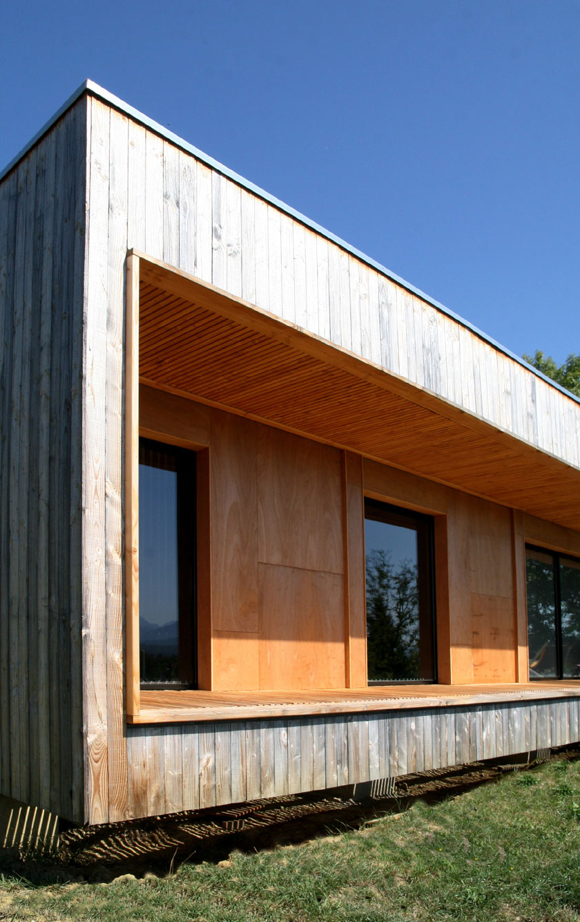 Prax architectes - Maison P3 - Terrasse intégrée