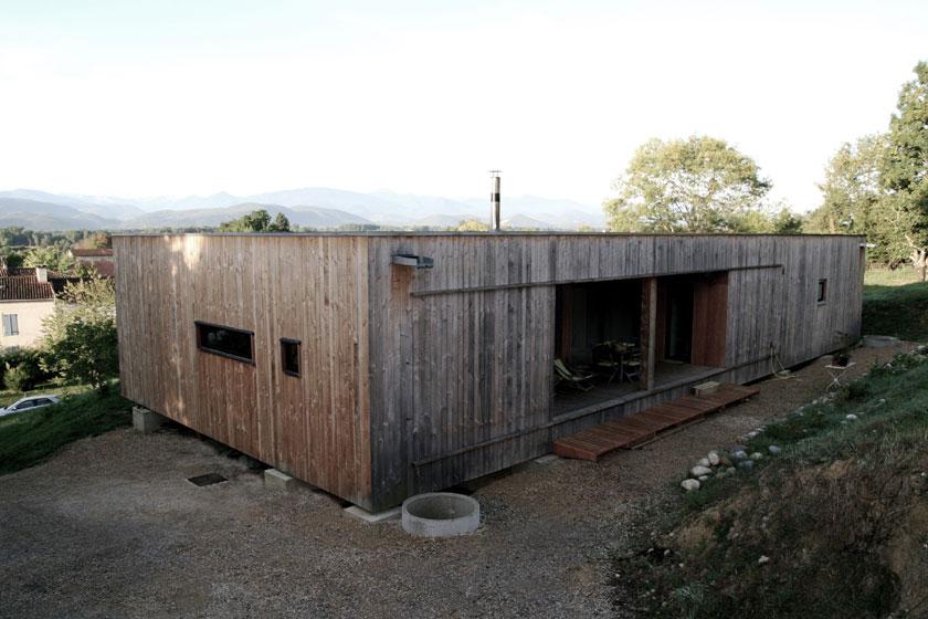 Prax architectes - Maison P3 - Façade arrière