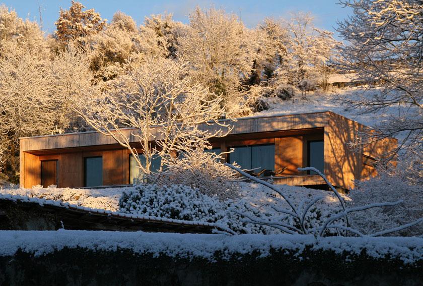 Prax architectes - Maison P3 dans la neige