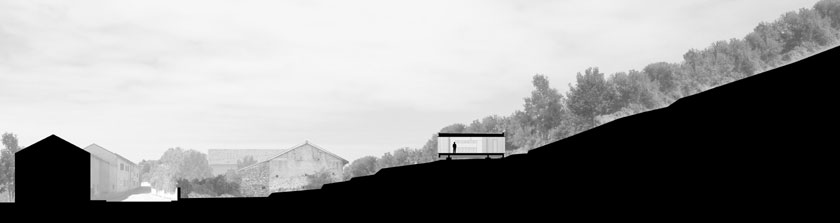 Maison P3 - Prax architectes - Coupe