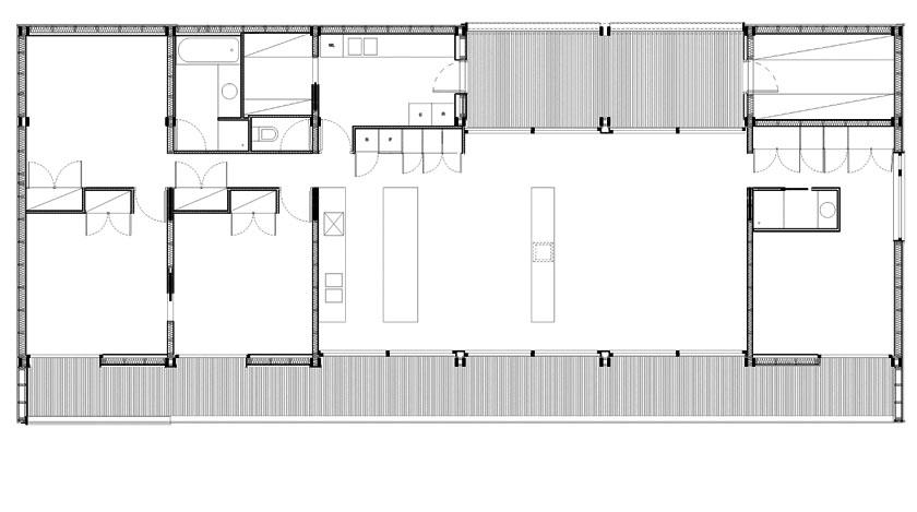 Maison en ossature bois ancr e la pente prax architectes - Plan de coupe maison ...