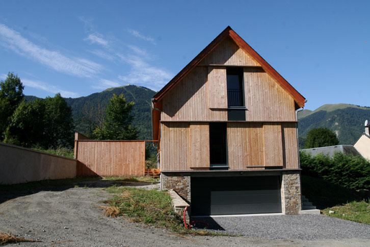 Prax architectes - Façade bois Maison B1