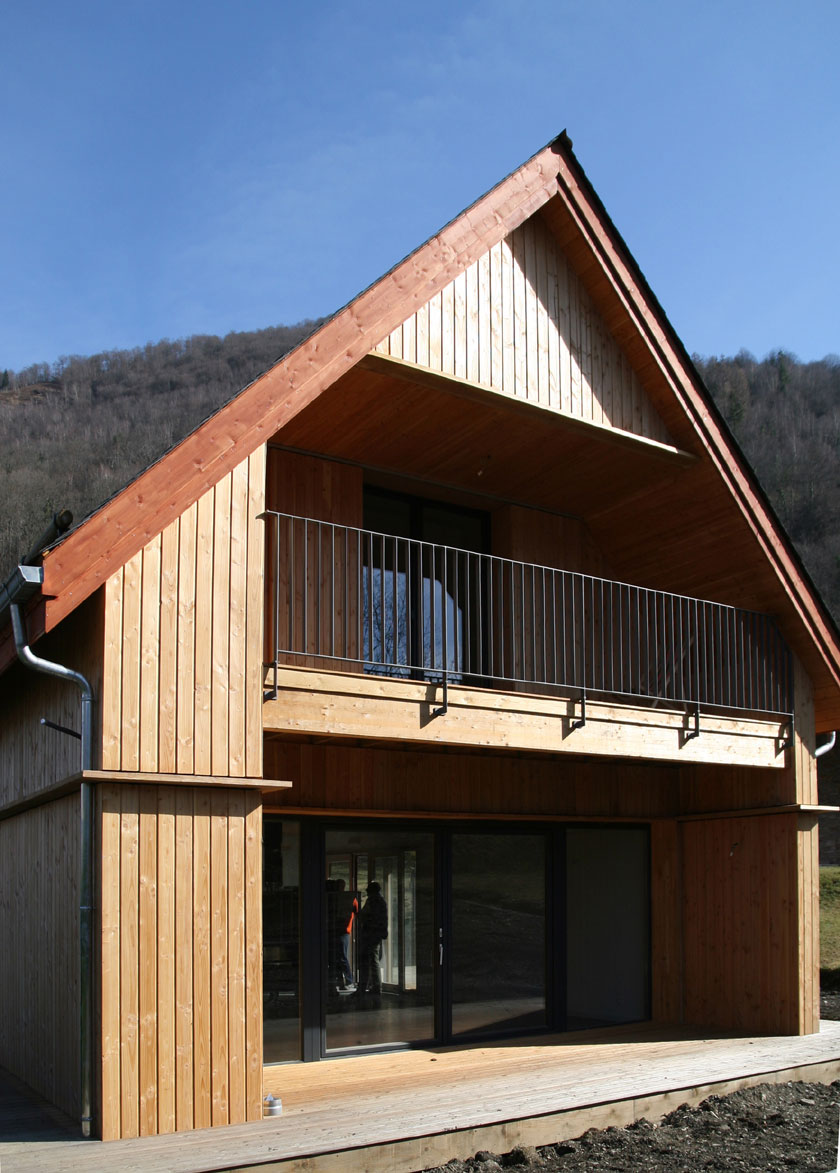 Maison B1 - Prax architectes - Balcons intégrés