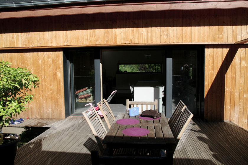 Maison B1 - Prax architectes - Terrasse latérale