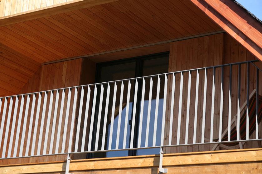 Maison B1 - Prax architectes - Balcon intégré à l'étage