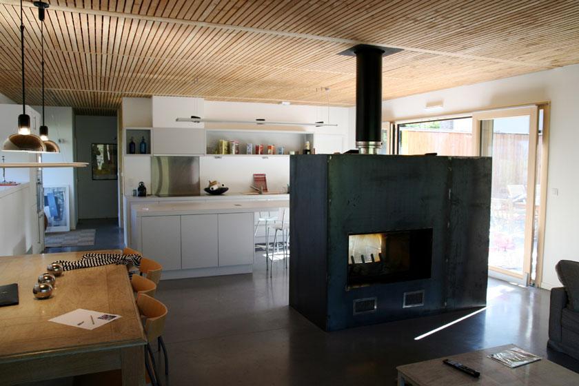 Maison B1 - Prax architectes - Séjour et cuisine