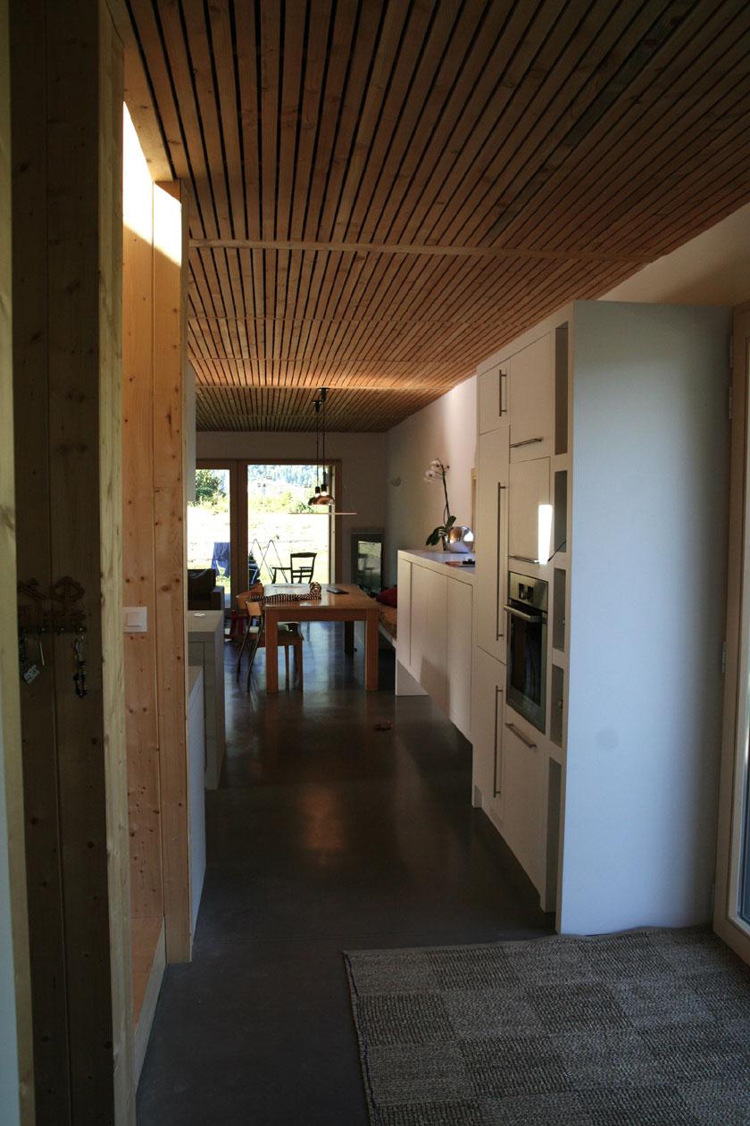Maison B1 - Prax architectes - Passage cuisine/salle-à-manger