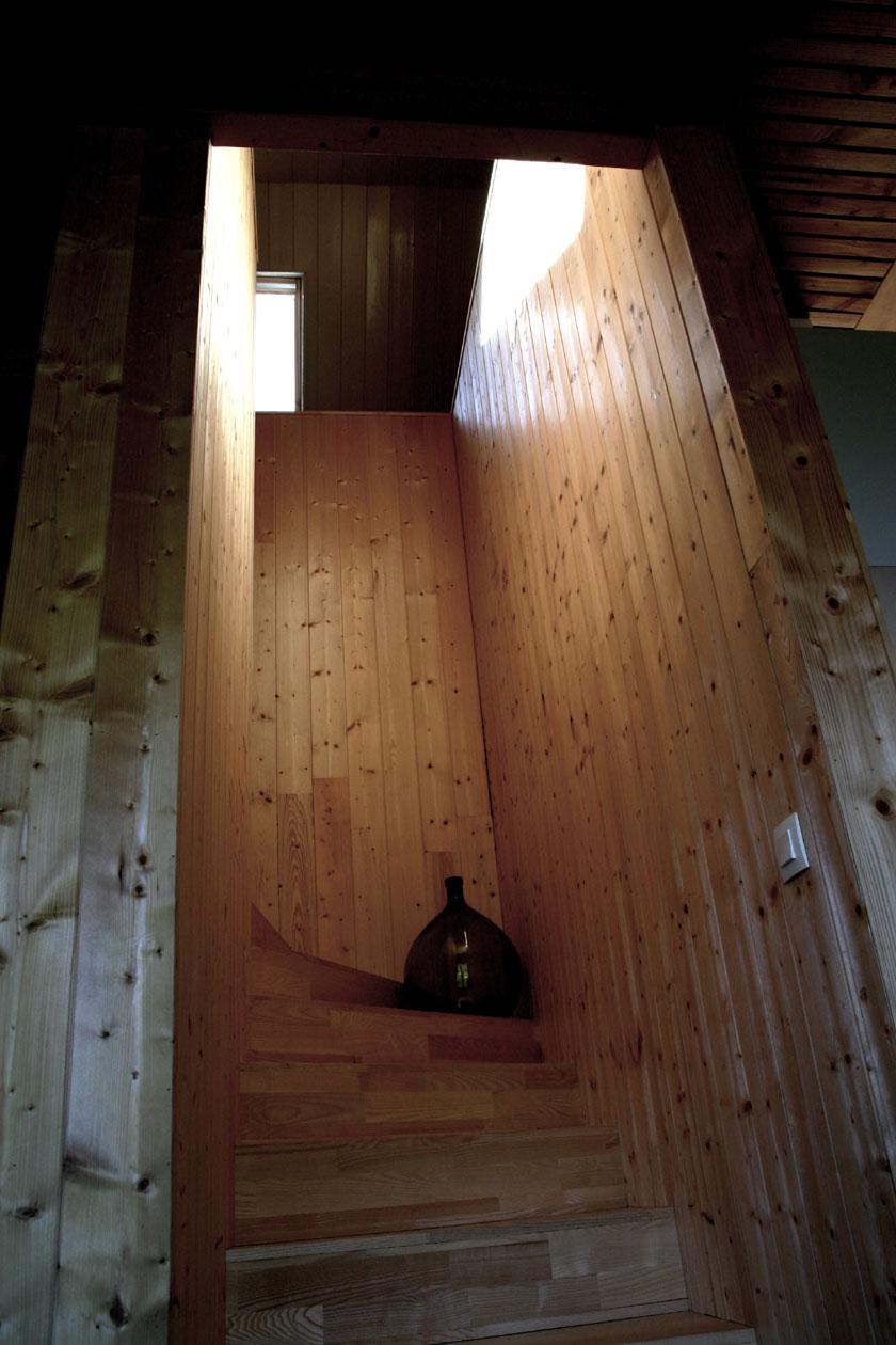 Maison B1 - Prax architectes - Escalier tout en bois