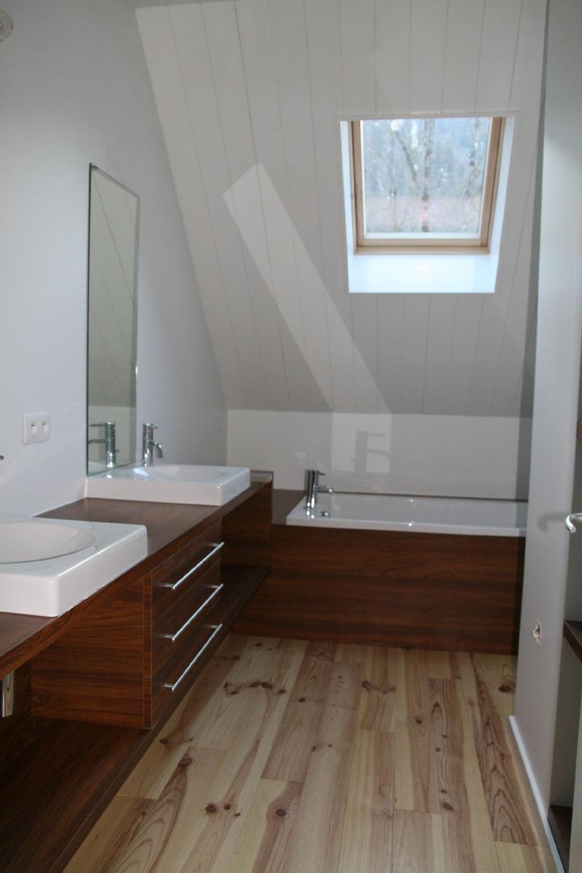 Maison B1 - Prax architectes - Salle de bains