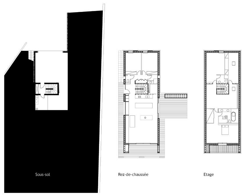 Maison B1 - Prax architectes - PLANS