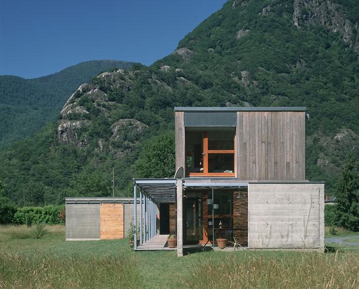 Maison P1 - Prax architectes - Pignon