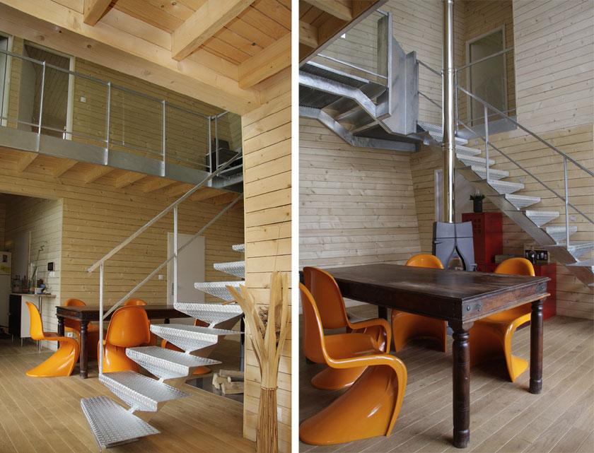 WILD architecture - Intérieurs bois Maison Coquille