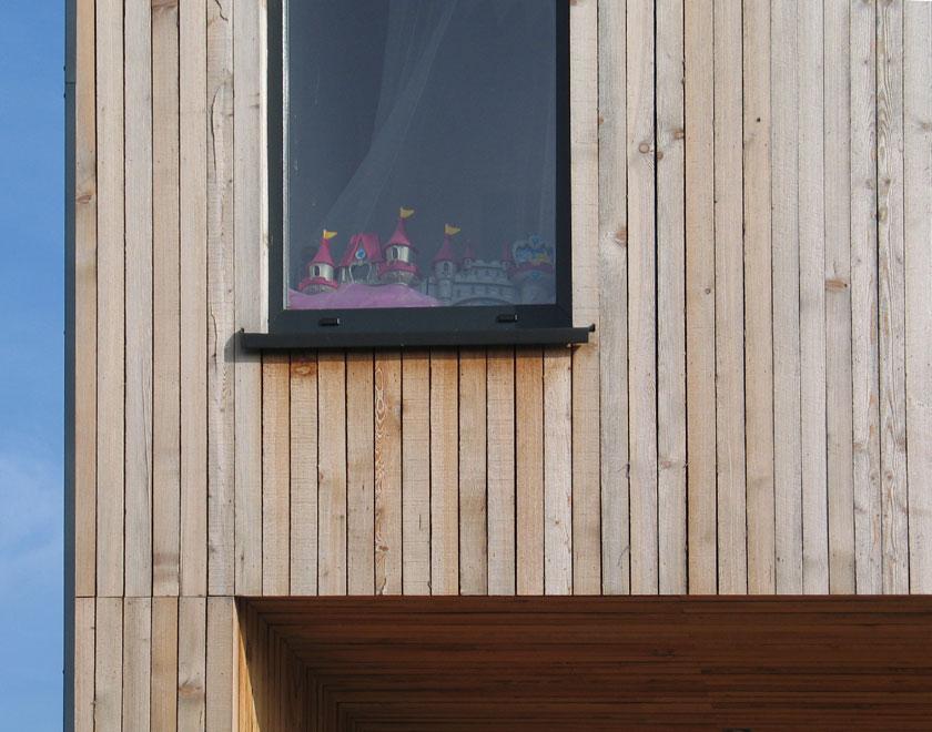 WILD architecture - Détail du bardage mélèze