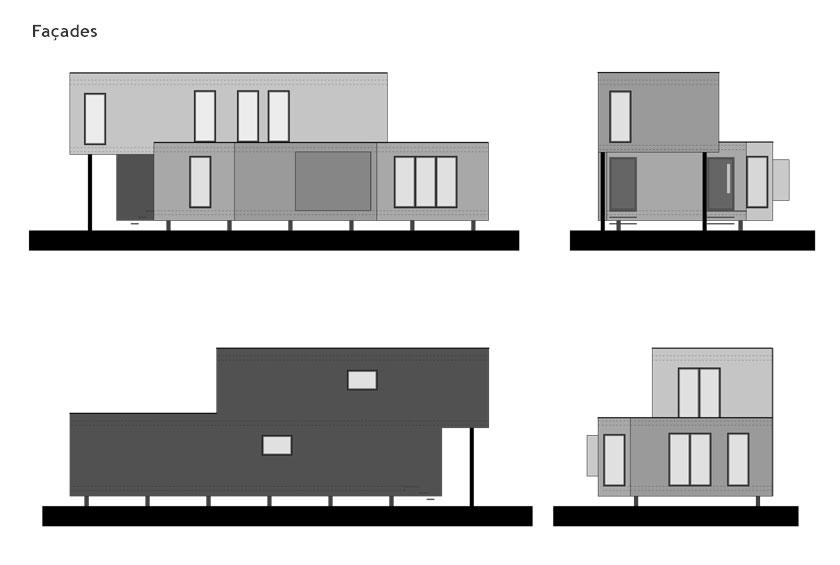 WILD architecture - FACADES de la maison sur le ruisseau
