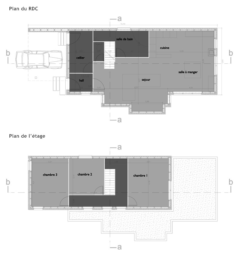 WILD architecture - PLANS de la maison sur le ruisseau