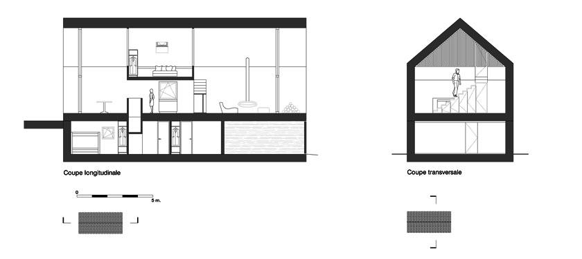 Géraud architecte - Chalet - COUPES