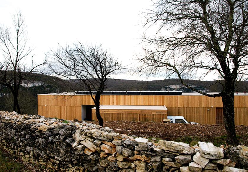 Yann Ouvrieux architecte - Arrière maison à Marcilhac