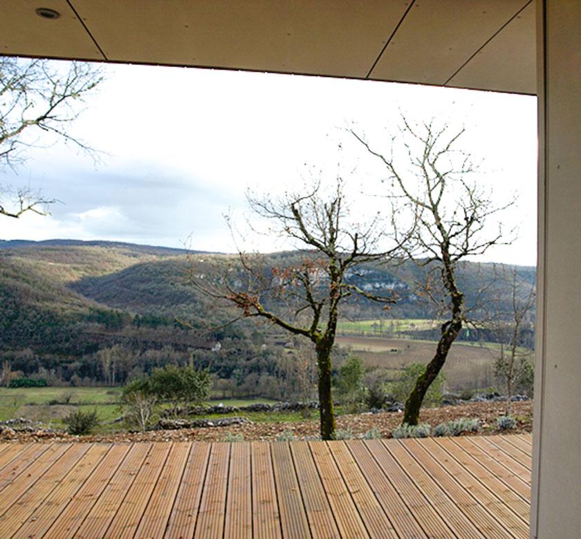 Yann Ouvrieux architecte - Maison bois vue sur le paysage