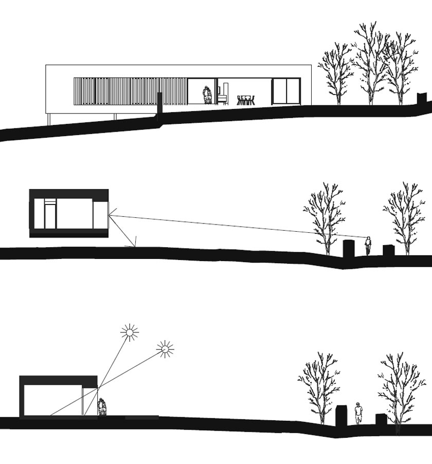 Maison P - Yann Ouvrieux architecte - CROQUIS