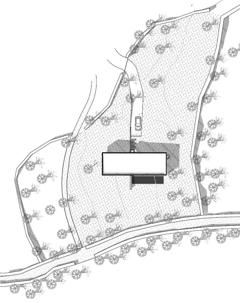 Maison P - Yann Ouvrieux architecte - PLAN MASSE