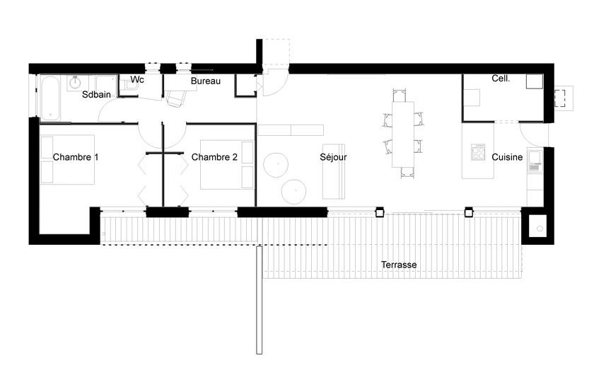 Maison P - Yann Ouvrieux architecte - PLAN