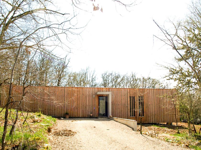 Partie Ouest en porte à faux - Maison P - Yann Ouvrieux architecte