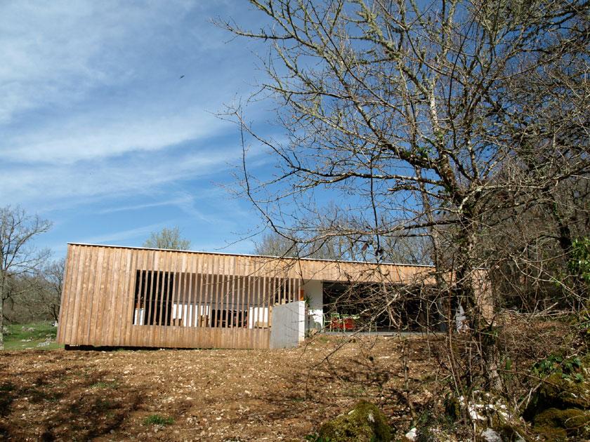 Maison P - Yann Ouvrieux architecte - Façade Sud