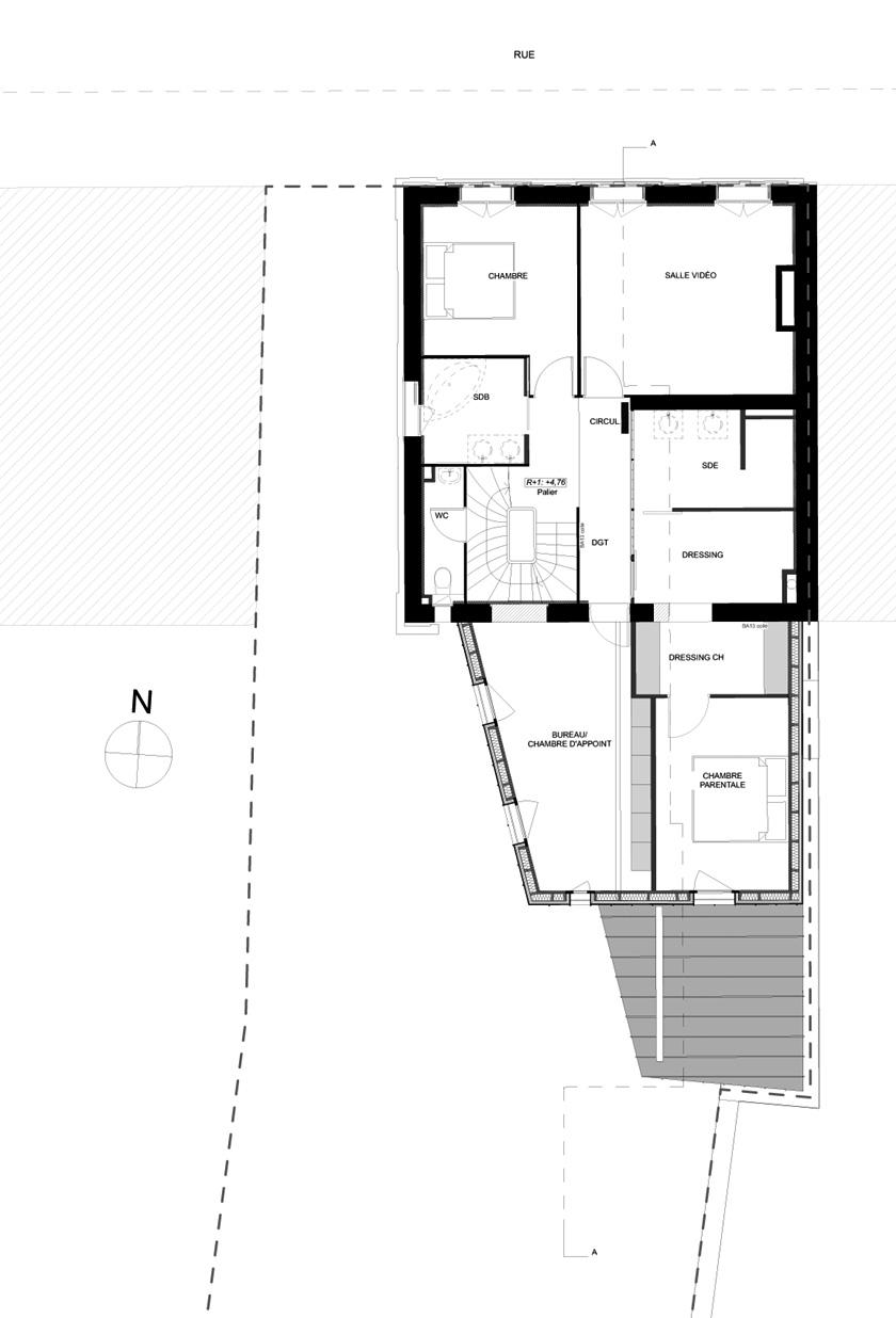 AAGB - Maison B - Plan Etage