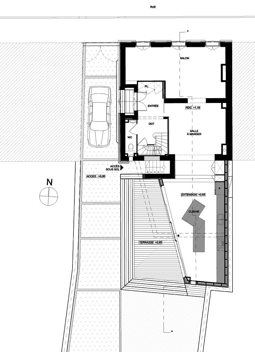 AAGB - Maison B - Plan du RDC