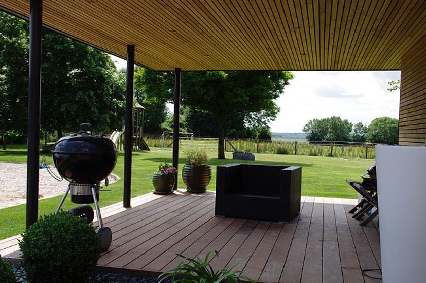 Marc Lafagne architecte - Maison à Grémévillers - Terrasse couverte