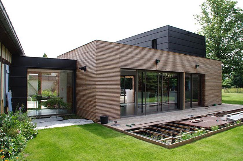 Marc Lafagne architecte - Maison à Grémévillers - Terrasse en construction