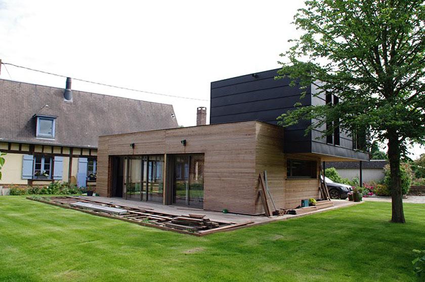 Marc Lafagne architecte - Maison à Grémévillers - Terrasse en construction 2