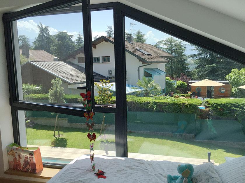 Naud-Passajon-Dejos - Chambre vue sur jardin