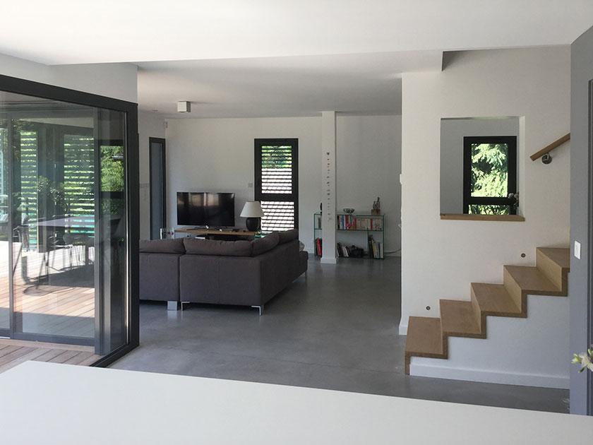 Naud-Passajon-Dejos architectes - Séjour ouvert