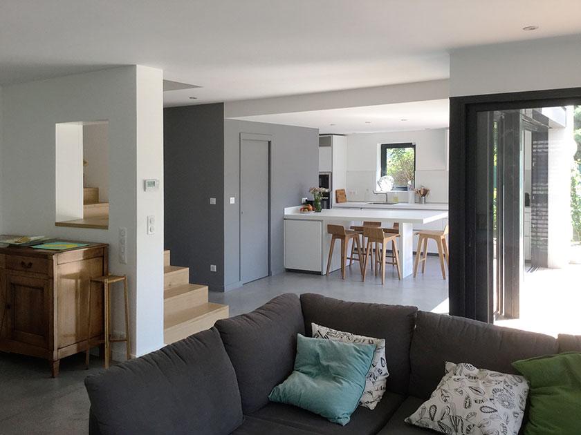 Naud-Passajon-Dejos architectes - Séjour-cuisine