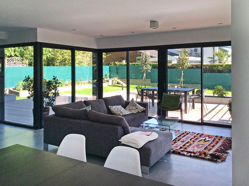 Naud-Passajon-Dejos architectes - Séjour ouvert sur la terrasse