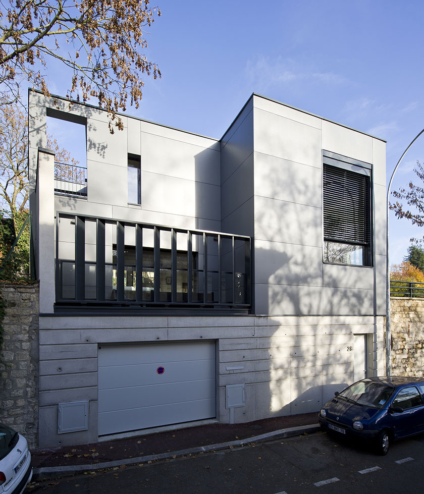 Maison contemporaine st germain en laye rapha l for Architecte nom