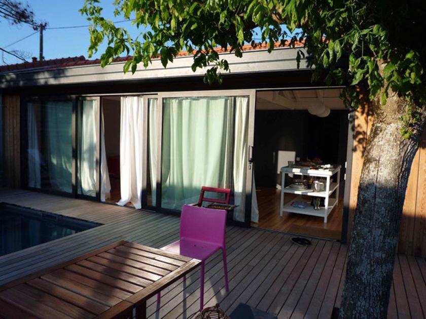 Collinet-Ourthe Maison DCO - La cuisine depuis la terrasse