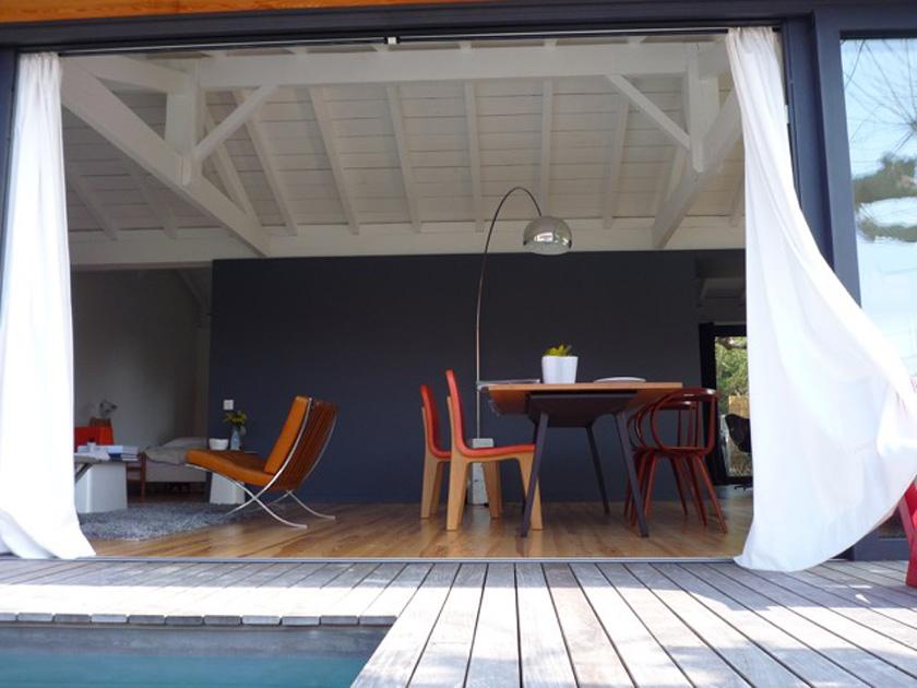 Collinet-Ourthe - Séjour depuis la terrasse extérieure
