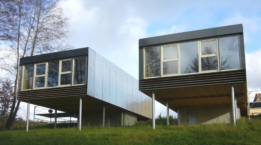 Maison sur pilier ventana blog for Maison atypique definition