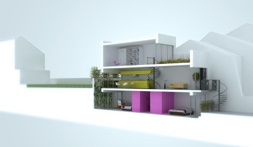 Plan maison troite et longue ventana blog - Maison etroite ...
