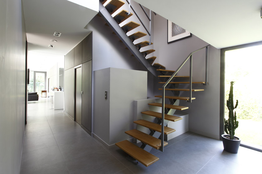 Escalier interieur maison moderne ventana blog - Maison d architecte orange county californie ...